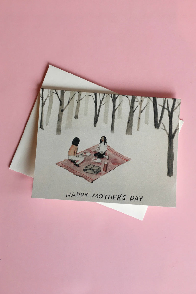 Mother's Day Picnic Card Cards Red Cap Cards - Hello Holiday