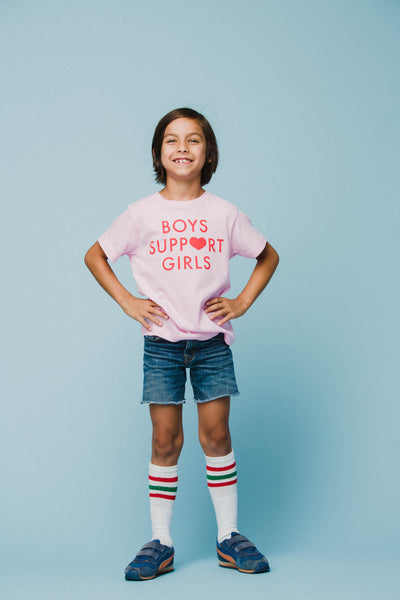Boys Support Girls Tee - Youth