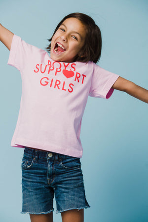 Boys Support Girls Tee - Youth T-Shirts Daisy Natives - Hello Holiday