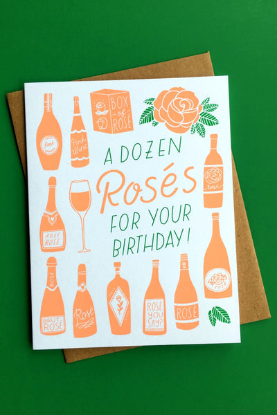 Dozen Rosés Card Cards The Good Twin - Hello Holiday