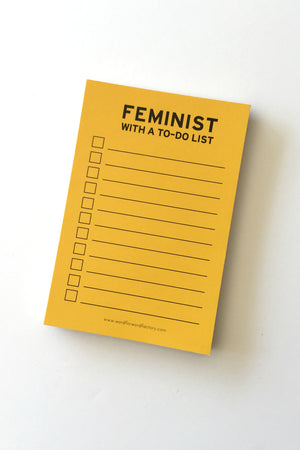 Feminist With A To-Do List Notepad Home and Office Word for Word - Hello Holiday