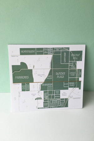 Dundee Map Decor Highway 6 Handmade - Hello Holiday