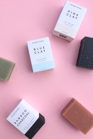 Blue Clay Cleansing Bar Soap Body Herbivore Botanicals - Hello Holiday
