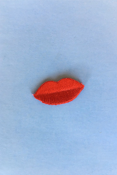 Red Lips Sticker Patch Pins and Patches These Are Things - Hello Holiday