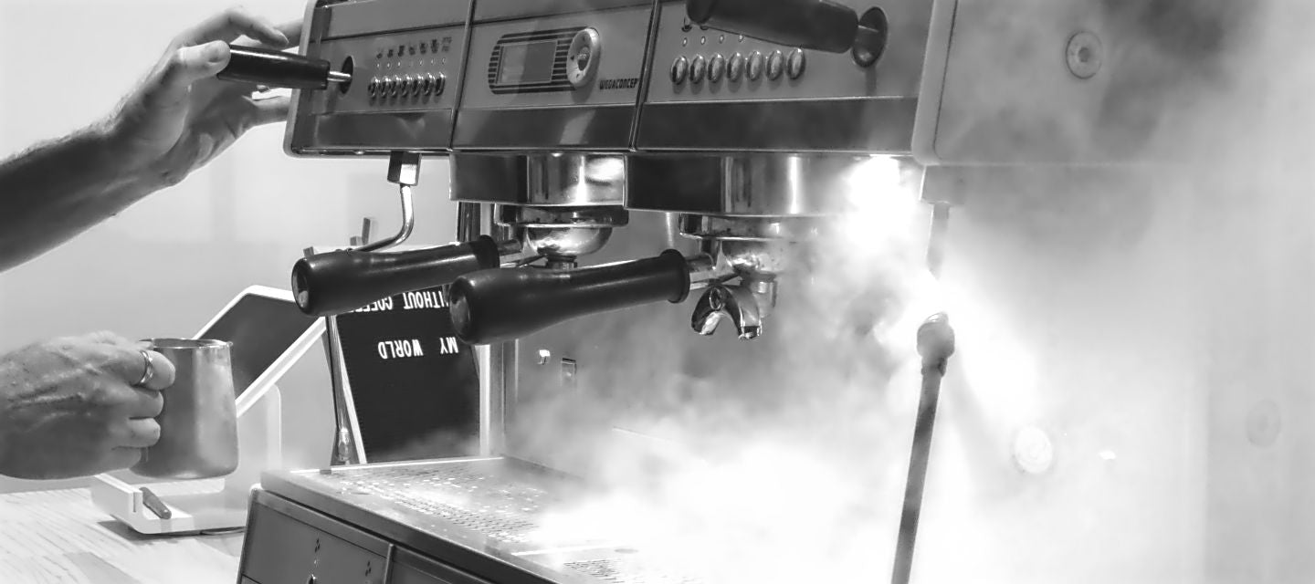 Coffee machine steam mist