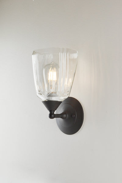 Bottle Glass Sconce, Christian Brothers