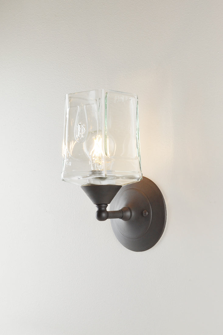 Bottle Glass Sconce, Herradura