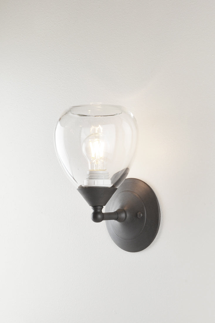 Dune Glass Small Spindle Sconce