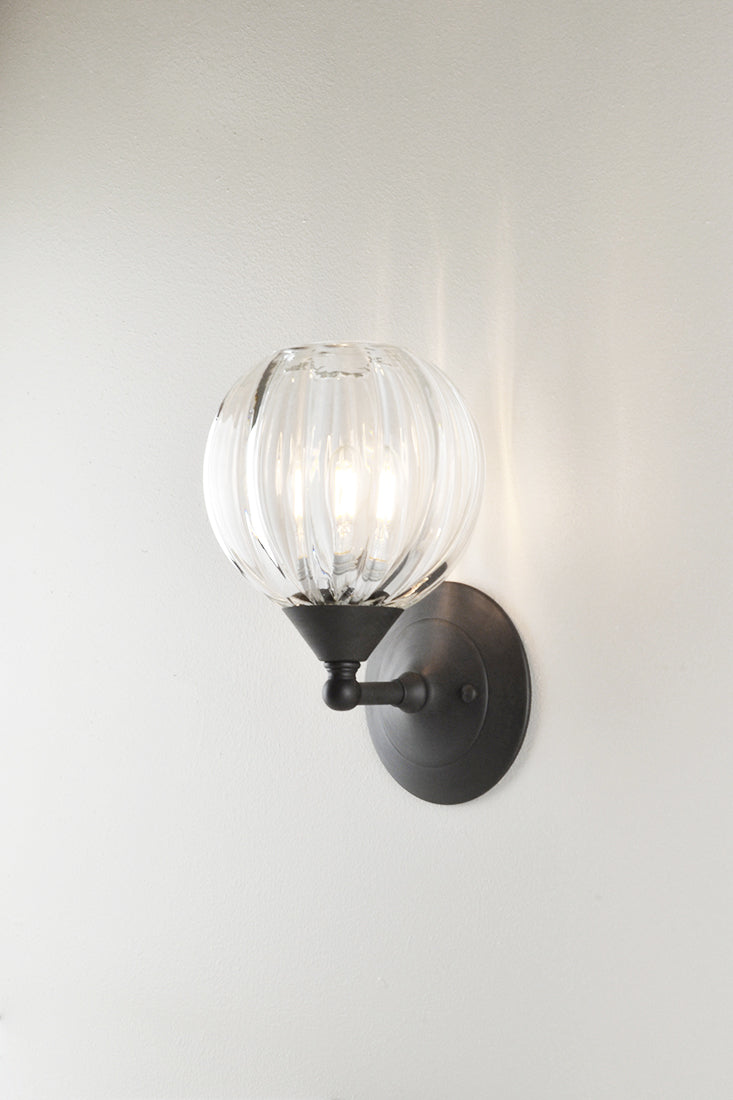 Mirage Glass Small Globe Sconce