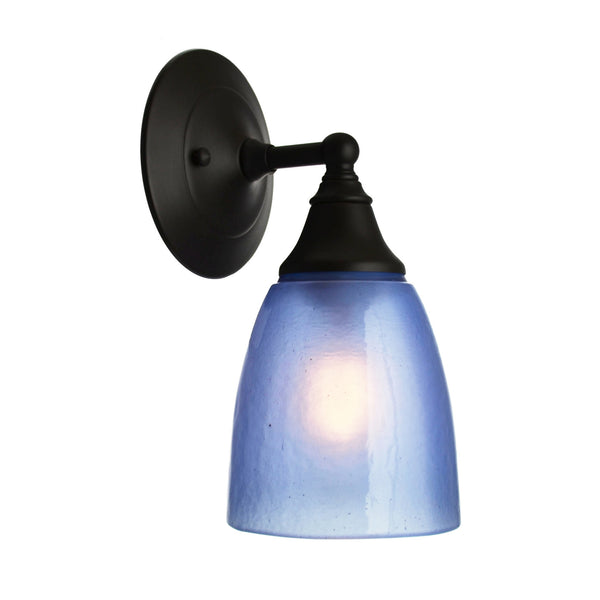 River Glass Acacia Sconce, Cobalt