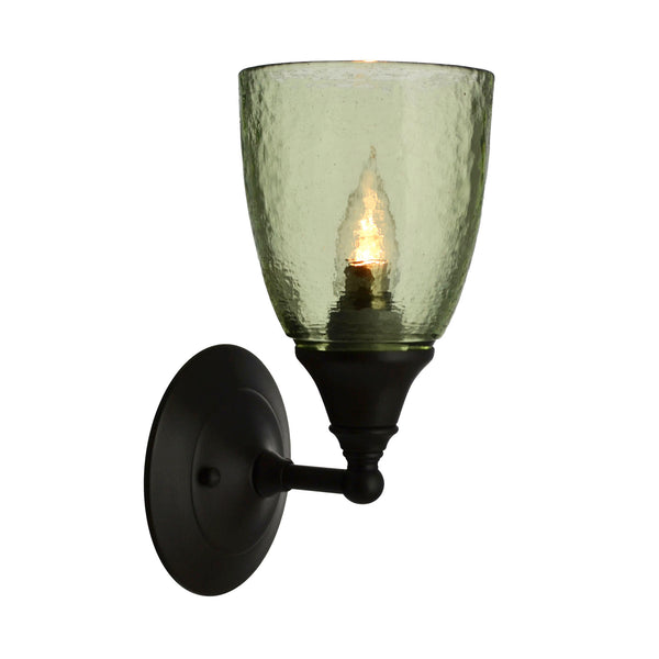 River Glass Acacia Sconce, Olive