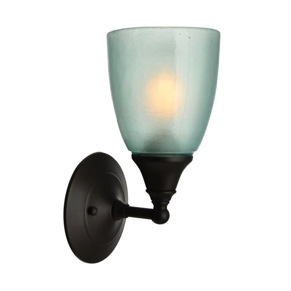 River Glass Acacia Sconce, Aqua