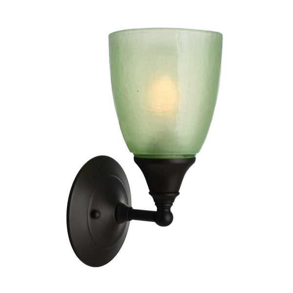 River Glass Acacia Sconce, Celery