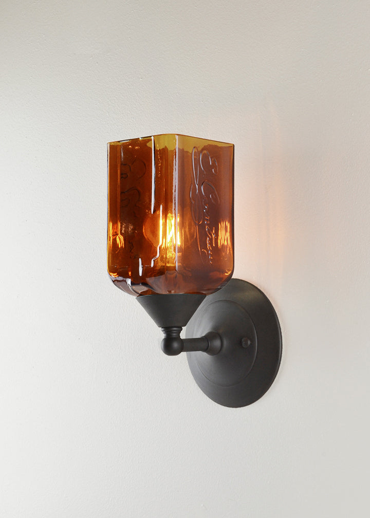 Bottle Glass Sconce