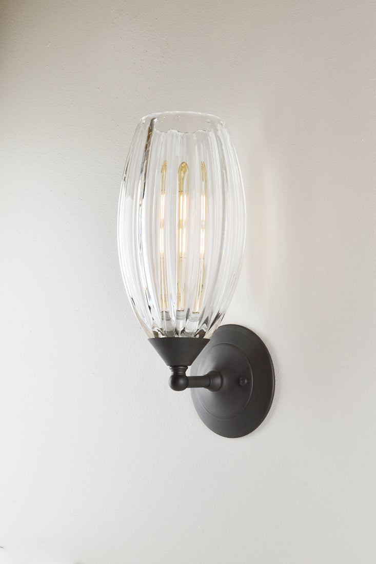 Mirage Glass Small Spindle Sconce