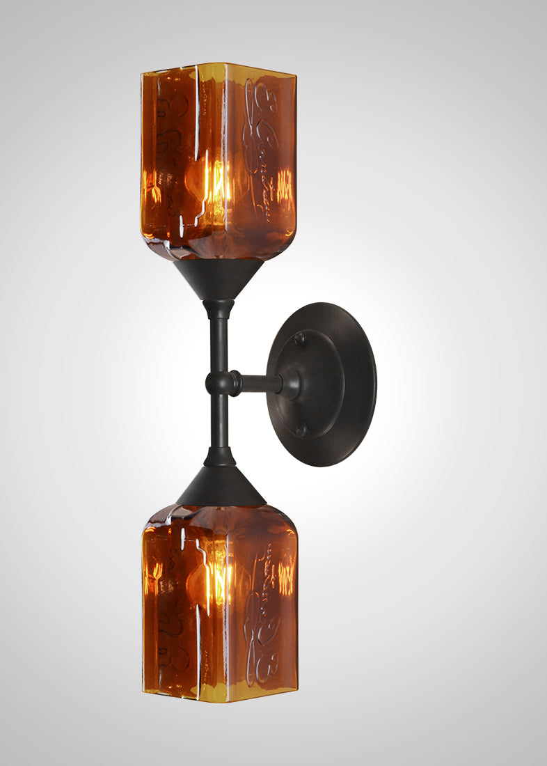 Bottle Glass Linear Double Sconce, Cointreau