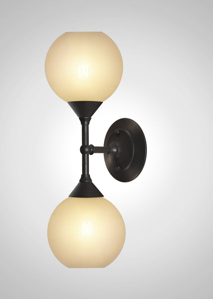 Oasis Glass Linear Double Sconce