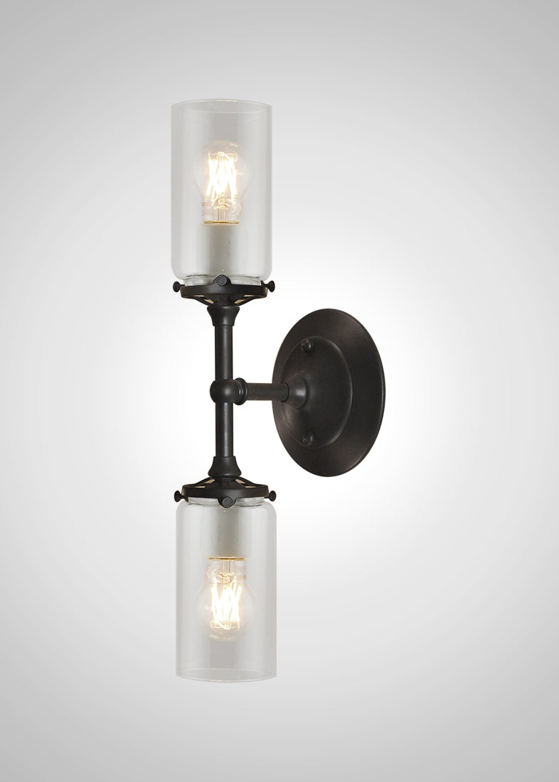 Alpine Glass 2F Linear Double Sconce