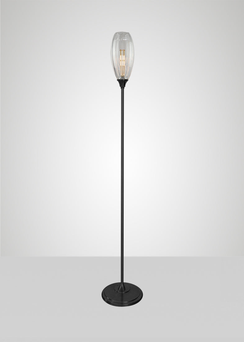 Mirage Glass Large Spindle Floor Lamp