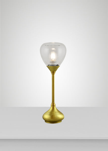 Dune Glass Acacia Table Lamp