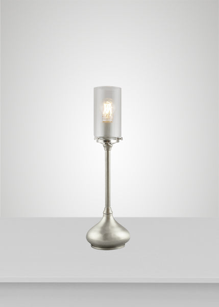 Alpine Glass Acacia Table Lamp