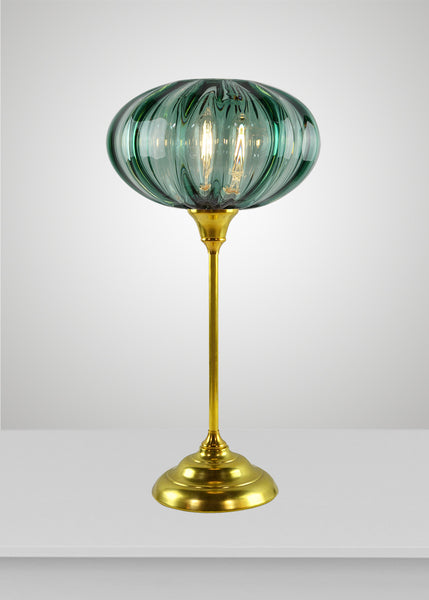 Mirage Glass Large Oval Acacia Torchiere
