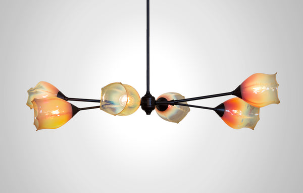 Seaflower Glass Branches Chandelier