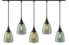 Cascade River 5-Light Cup Pendant