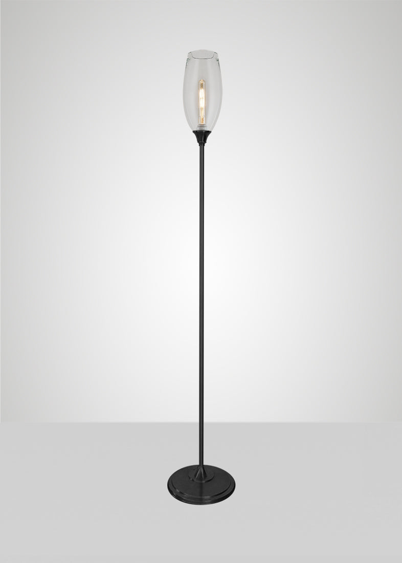 Dune Glass Large Spindle Floor Lamp