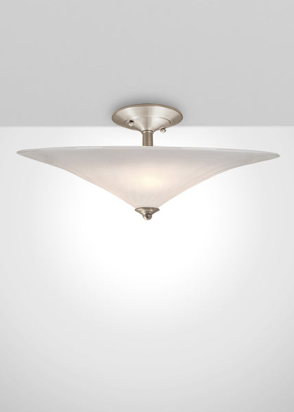 Mirage Glass Semi-Flush Mount