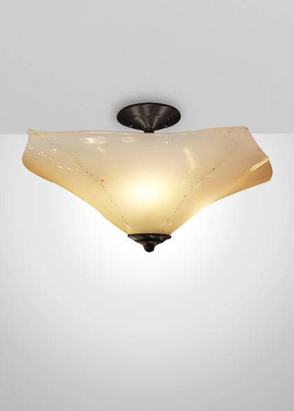 Seaflower Glass Flush Mount