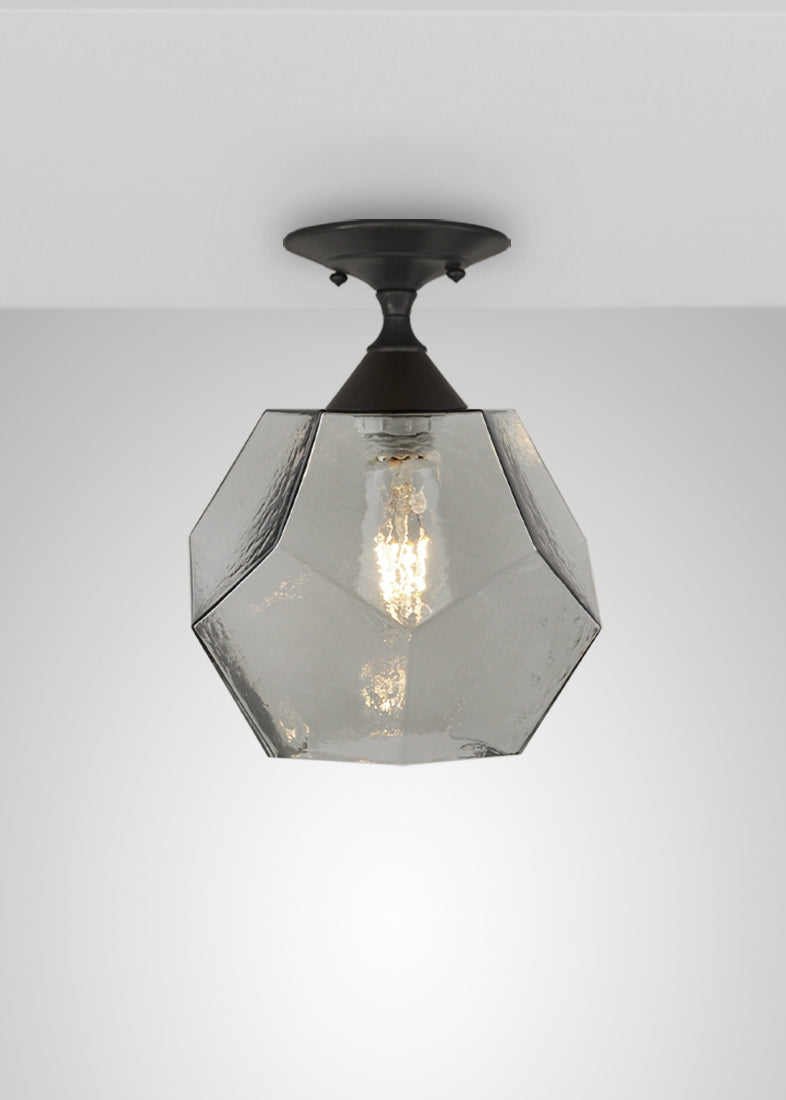 Quartz Glass Semi-Flush Mount