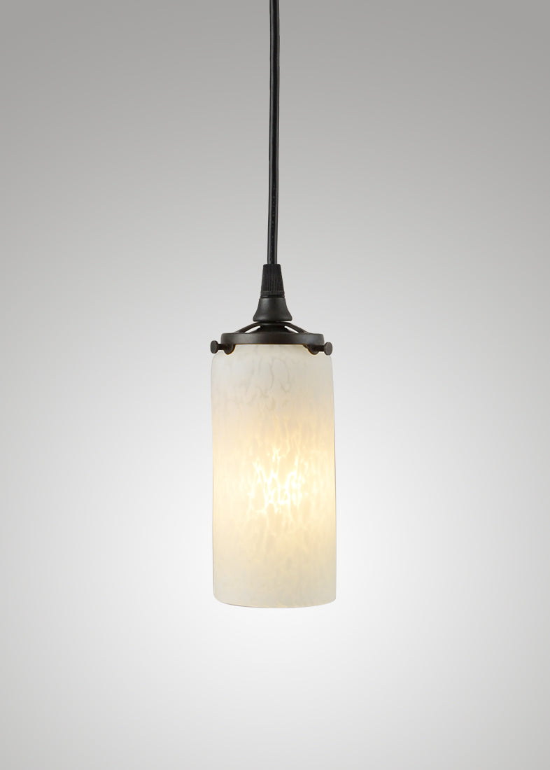 Prarie Glass Spotted Cylinder 2F Pendant