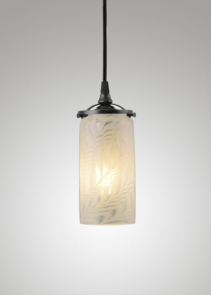 Lundberg Glass Opal Moire Cylinder 3F Pendant