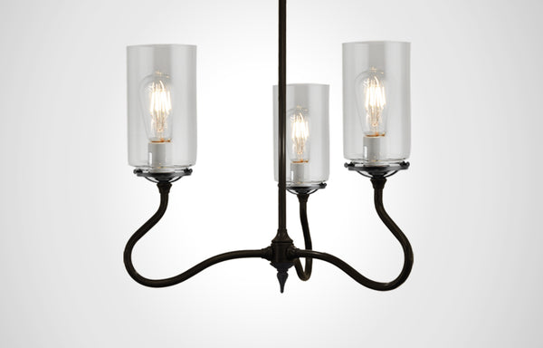 Alpine Glass 3F Trumpetvine Chandelier