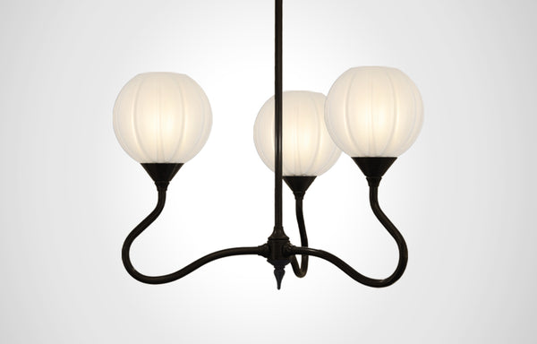 Mirage Glass Small Globe Trumpetvine Chandelier
