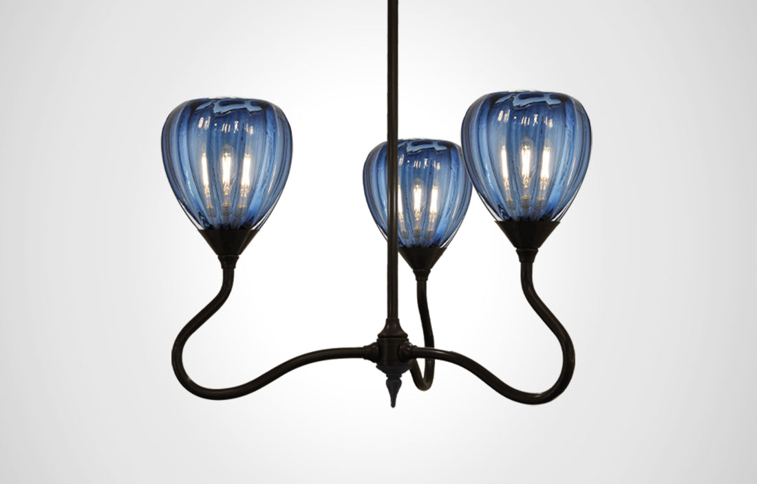 Mirage Glass Small Teardrop Trumpetvine Chandelier