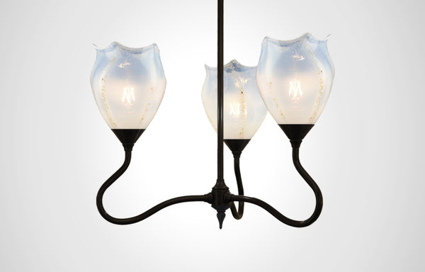 Seaflower Glass Trumpetvine Chandelier