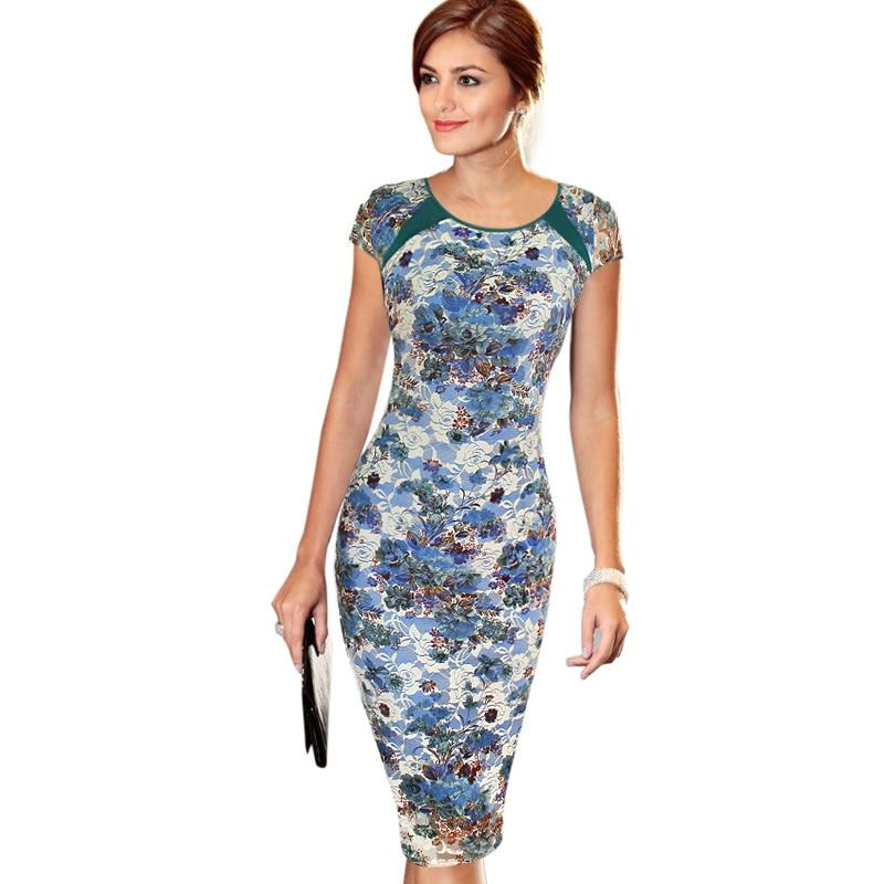Women's Spring Summer Printed Synthetic Leather Wear to Work Office Businessrricdress-rricdress