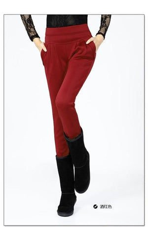 New 2016 harem pants women winter pants Plus thick velvet Was thinrricdress-rricdress