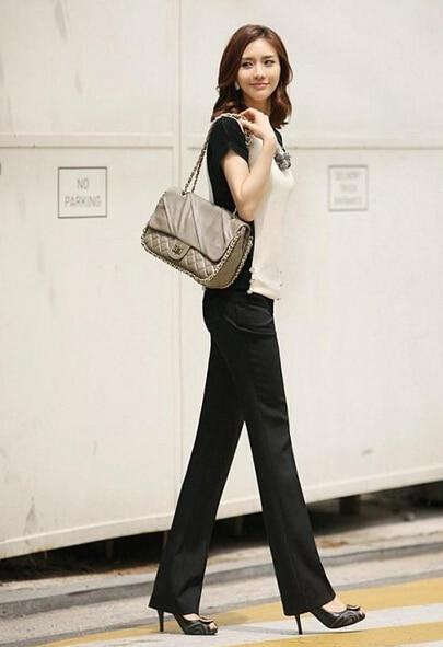 Women Pants 2016 Spring Autumn Plus Size Elegant OL office Black Pantrricdress-rricdress