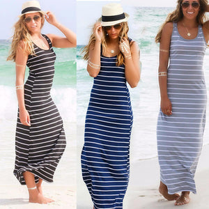 Sexy Women Summer Boho Long Maxi Dress Beach Sleeveless Tank Dresses Plusrricdress-rricdress
