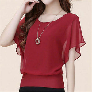 Sexy Womens Batwing Short-Sleeve Shirt Ladies Summer Casual Loose Tops Blouse btrricdress-rricdress