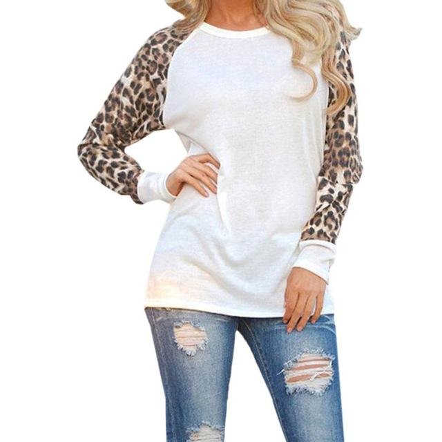Plus Size Women Clothing 2017 Autumn Fashion Women Patchwork Leopard Print Chiffonrricdress-rricdress