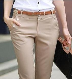 Plus Size Trousers Women Pants Spring Summer Casual OL Formal Harem Pantsrricdress-rricdress