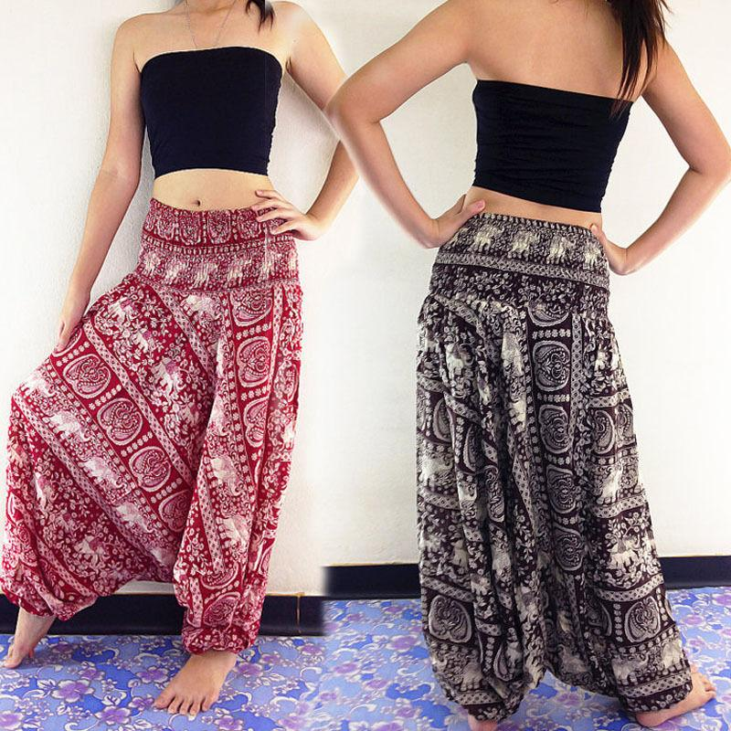 Women New Fashion Ladies Comfy Beach Baggy Boho Wide Leg Pants Hippierricdress-rricdress
