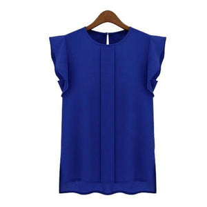 Womens Blouses Chiffon Clothing Summer Lady Blouse/Shirt S-XL Sale New 2017 Fashionrricdress-rricdress