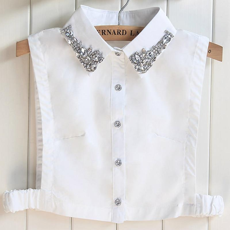 2017 newest Cotton Fake Shirt Women Handmade Bead Winter Shredded Female Halfrricdress-rricdress