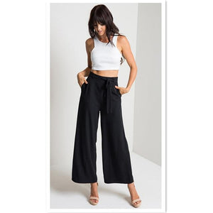 2017 New Pants Capris for Woman Casual Trousers Mid Waist Wide Legrricdress-rricdress