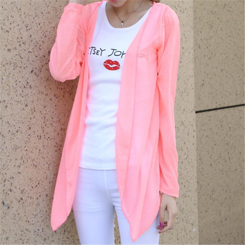 Sale Fashion Women summer Autumn Candy Colors Sun Protection Casual Cardigans Airrricdress-rricdress